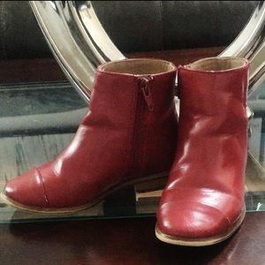 Red cute booties